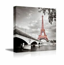 Wall26 - Canvas Prints Wall Art - Eiffel Tower in Paris France ... Free Shipping