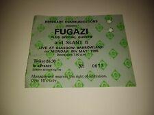RARE 1995 FUGAZI Concert Ticket / Glasgow Barrowland / Ian MacKaye