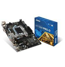 MSI H110M PRO-D Gaming Mainboard Sockel 1151 (Flex-ATX, Intel, DDR4, Sata)