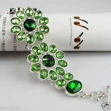 Bracelet & Bangle For Woman e616 Multicolor crystal silver Beads Stretch Charm