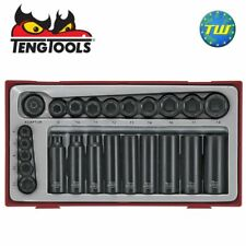 Teng 24pc 1/4 & 3/8in Drive Impact Socket Set TT9024 - Tool Control System