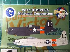 Two Bobs decals IPMS'15 Nats FG-1D(F4U Corsair), TV-1(P-80), British D-Day Armor