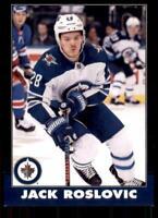 2020-21 UD O-Pee-Chee Retro Black Border #393 Jack Roslovic /100 - Winnipeg Jets