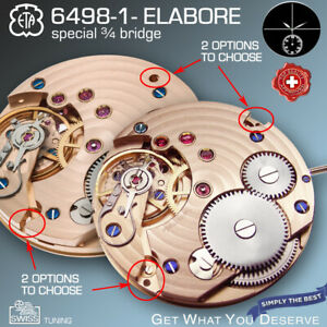 MOVEMENT ETA 6498-1 HIGH END ELABORE, ¾ BRIDGE, CHATON FIXED RUBIES, SWAN NECK 2