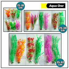 6 Pack Mixed PLASTIC AQUARIUM PLANTS Artificial Fish Tank Decor Decoration Large