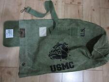 USMC Bulldogge Denim Seesack Canvas Duffle Bag US Navy Army Marines Vietnam #4
