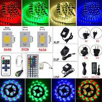 5M 10M 300 LED Flexible Strip Light SMD 3528 5050 5630 + Remote + Power Supply