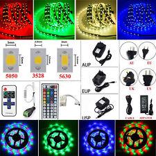 5M 10M 20M LEDs SMD 3528/5050/5630 RGB White Flexible Strip Light(Remote+Power)