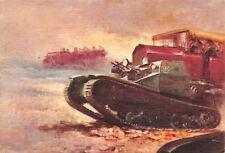 C5257) POLIZIA ITALIANA, CARRO ARMATO L3/33, CAMION E AUTO. ILLUSTRATORE TAFURI.