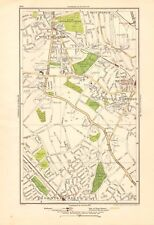 1923 LONDON STREET MAP - WEST NORWOOD, UPPER NORWOOD, THORNTON HEATH
