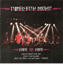 TWELFTH NIGHT - LIVE AND LET LIVE Cyclops CD Marillion IQ Pendragon Pallas prog
