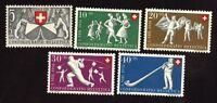 Schweiz 555/59 Bundesfeier postfrisch