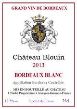 CHATEAU BLOUIN 2014 BORDEAUX BLANC Carton de 12 bouteilles
