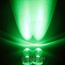 100 PCs MegaBright Green Led 5mm 40,000mcd!Free R&SH
