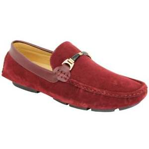 Mens Suede Look Moccasins Shoes Slip On Boat Deck Driving Smart Buckle Loafers