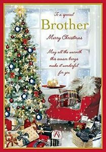 for A Special Brother Christmas Card Lovely Verse