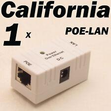 White POE Injector Splitter over Ethernet Adapter For IP Camera LAN Network DC