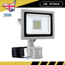 30W LED PIR Sensor Floodlight Outdoor Security Outside Garden Flood Lights Cool