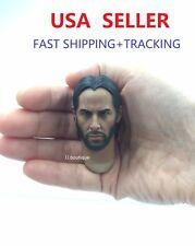 Custom Keanu Reeves John Wick 2.0 1/6 Head Sculpt for 12'' male figure body