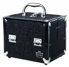 Black 4 Tray Train Organizer Case Makeup Beauty Cosmetic Travel Bag 2.45 Pound