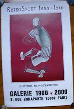 Affiche exposition rétro sport 1850-1940 illustrée par GAN.Paris 1984