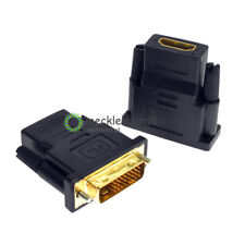 24+5 pin DVI Male to HDMI Female adapter Gold-Plated M F Converter For HDTV LCD