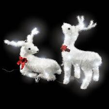 LED Iluminación navideña de exterior 2 renos corbata laza decoración jardín