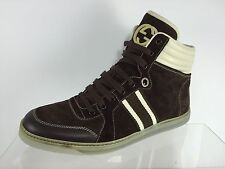 Gucci Mens Dark Brown Leather Ankle Boots US 9 (8 Gucci size)
