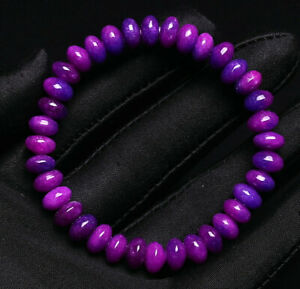 8mm Natural Sugilite Purple Gems South Africa Round Beads Bracelet AAA
