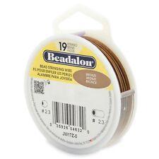 "Beadalon Bronze .012"" Bead Stringing Wire 19 Strand Flex Wire - 30ft"