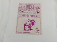 South Liverpool v Consett  FA  Trophy  December  1982