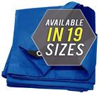 Tarp Cover Blue Waterproof Great for Tarpaulin Canopy Tent, Boat, RV Or Pool Cov