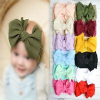 Baby Girl Kid Headband Bow Knot Hair Band Wrap Headwear Nylon Elasticity Pretty