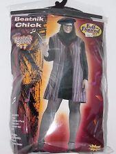 Plus Size 22 omen's Beatnik Chick Hippie Costume Cosplay Halloween Sexy