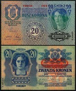 AUSTRIA-HUNGARY 20 KRONEN ND(1913-19) P53 UNCIRCULATED