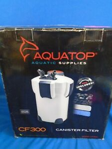 New Aquatop 3 Stage CF300 Canister Filter for Tanks Up To 75 Gal.