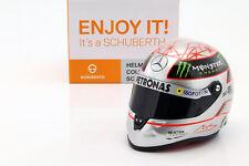 M. Schumacher Mercedes GP W03 Formel 1 Spa 300th GP 2012 Platin Helm 1:2 Schuber