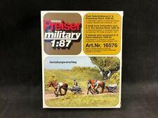 Preiser Unpainted German Reich Horse Drawn Ammo Carts 1:87 Ho Scale 16576 Nib