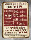 Plaque metal vintage Le vin