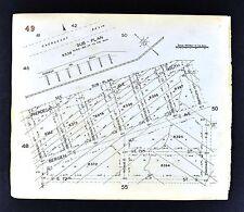 1929 Brooklyn Map  Paerdegat Basin Bergin Avenue 70-73 Street New York City NYC