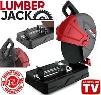"Lumberjack Portable Cut Off Chop Saw 355mm 14"" Blade for Abrasives & Metal 2600W"