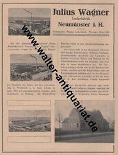 Julius Wagner Leder-Fabrik Neumünster 2 Seiten Große Werbeanzeige v.1923 Reklame