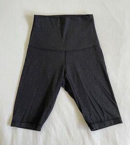 Lululemon Black Luon-Lite, High-Waist Biker Short, size 4