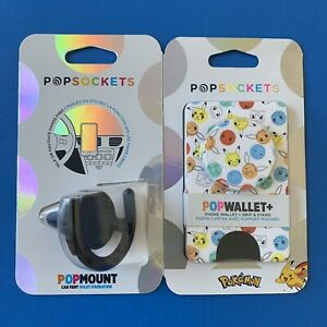🔵Popsockets Car Vent Popmount & Pokemon Dots Popwallet+ (Plus) Bundle🔴