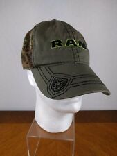 VTG Dodge Ram Camo Hook & Loop Hat Ball Cap Embroidered Logo Hipster Collectable