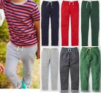 Mini Boden boys quality joggers sweat pants 3 - 16  grey red navy blue green new