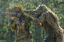 Jungle Camouflage Net Ghillie Suit Hat Handmade Knitting 80x90cm for Hunting