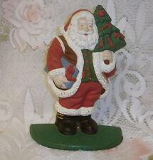 Vntg Cast Iron Santa Claus Christmas Doorstop Door Stop