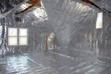 1000 sqft Radiant Barrier Attic Foil Reflective Insulation 4' x 250' Perforated