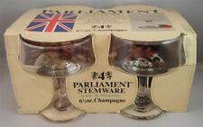 NIP Rare Vintage England Parliament Champagne Fine Glass Stemware 6.5 oz (4)